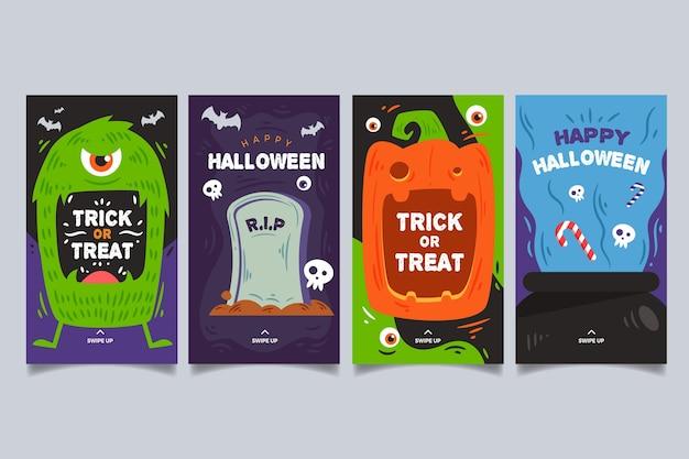 Halloween festival instagram geschichten gesetzt