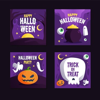 Halloween festival instagram post pack