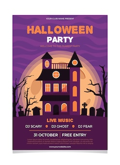 Halloween festival party poster konzept