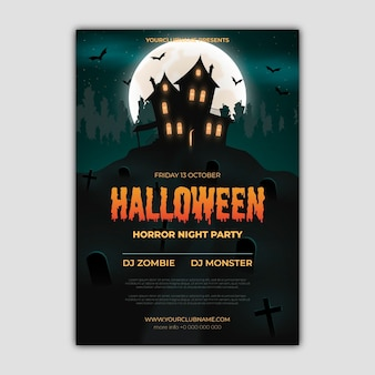 Halloween festival party poster