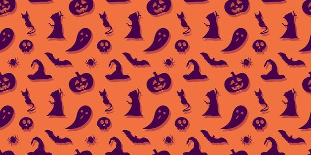 Halloween festlicher nahtloser musterhintergrund