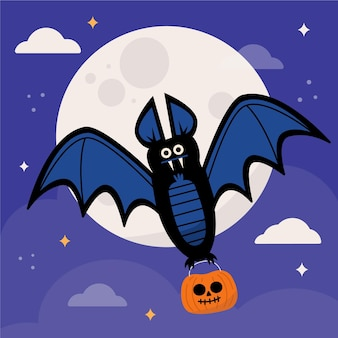 Halloween fledermaus illustration