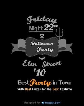 Halloween flyer beste party-vorlage