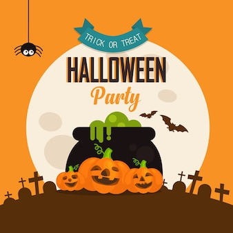 Halloween flyer vorlage. gruselige party einladung