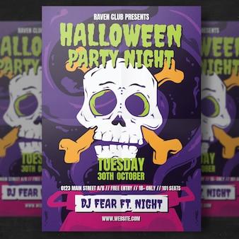 Halloween flyer vorlage