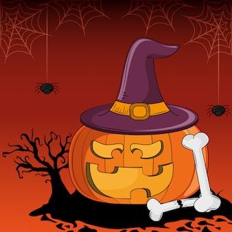 Halloween furchtsame karikaturen