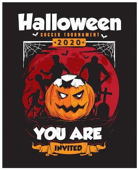 Halloween fußballturnier poster