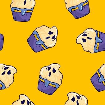 Halloween geist cupcake muster