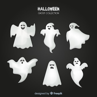 Halloween geist sammlung im flachen design