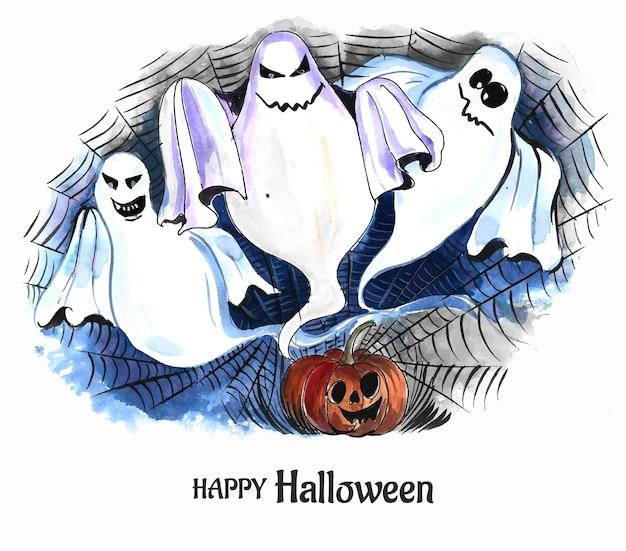 Halloween-geisterkartenhintergrund