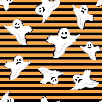Halloween-geistermuster, vektorillustration