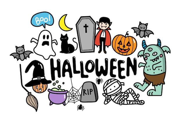 Halloween gekritzel