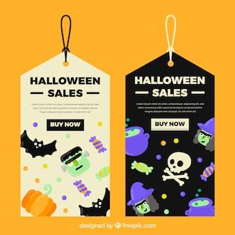 Halloween geschenk-tags