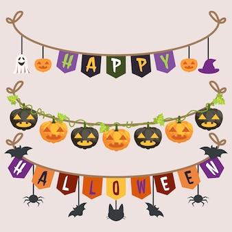 Halloween girlande sammlung