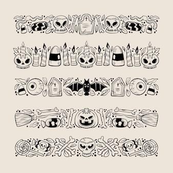 Halloween grenze sammlung konzept
