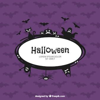 Halloween gruselig label