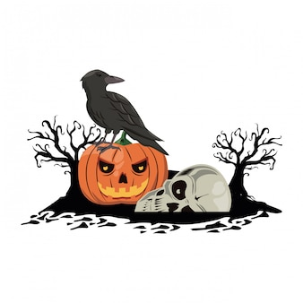 Halloween gruselige cartoons