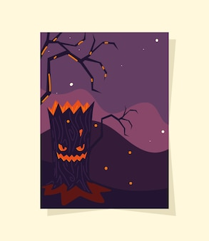 Halloween gruseliger baum