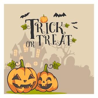 Halloween gruß vektor vorlage