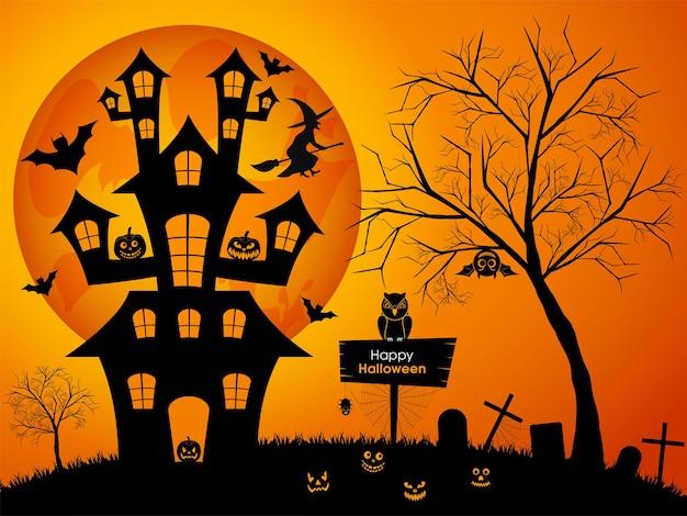 Halloween-grußkarte zur feier des festivals