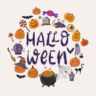 Halloween-grußkarte