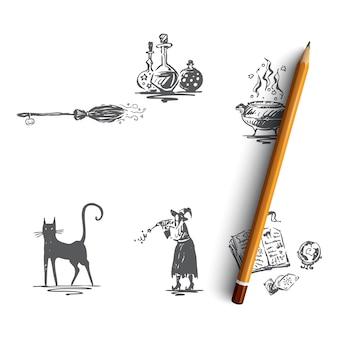 Halloween hand gezeichnete illustration