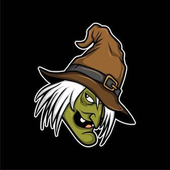 Halloween hexe kopf illustration