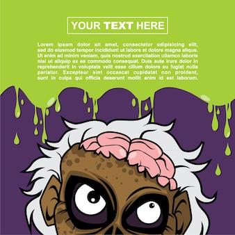 Halloween-hintergrund-design - wütender wissenschaftler-zombie