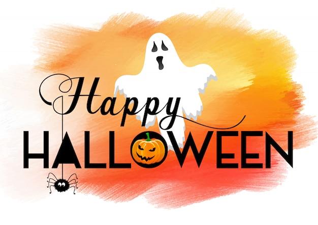 Halloween-hintergrund mit aquarellbeschaffenheit