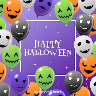 Halloween-hintergrund mit ballonen