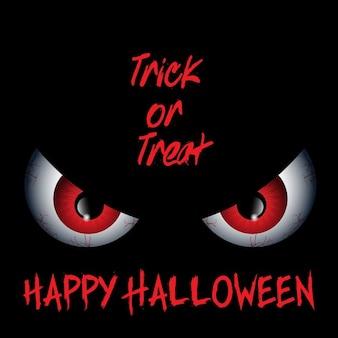 Halloween-hintergrund mit bösen augen