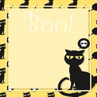 Halloween hintergrund mit boo! text.