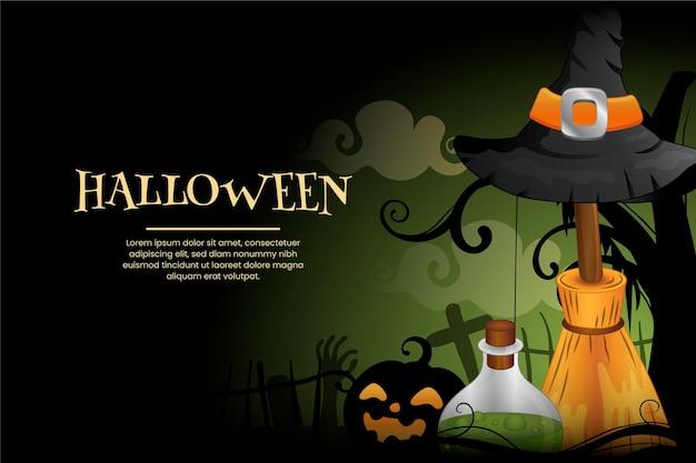 Halloween-hintergrund mit farbverlauf