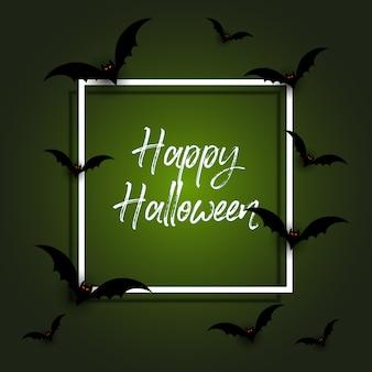 Halloween hintergrund mit fledermäusen