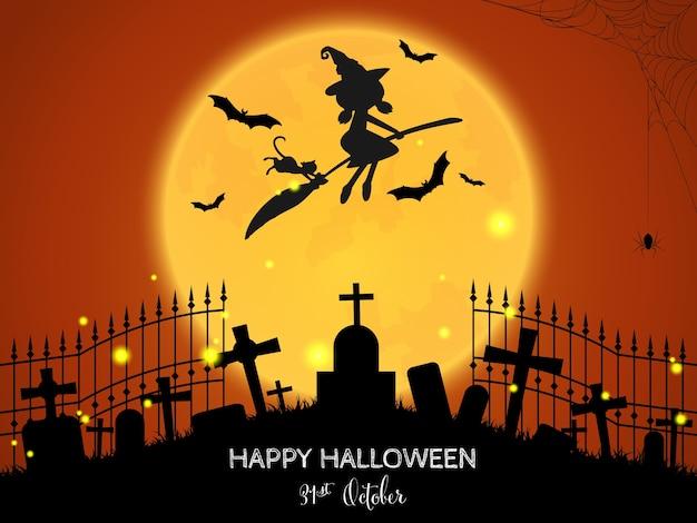 Halloween-hintergrund mit glücklichem halloween-text.