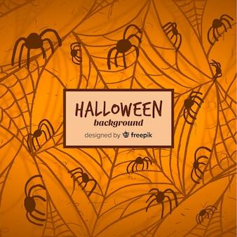 Halloween-hintergrund mit grunge-stil