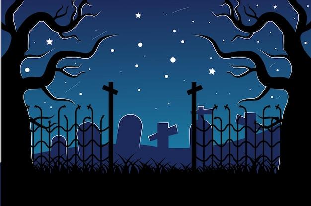 Halloween-hintergrund mit gruseligen elementen