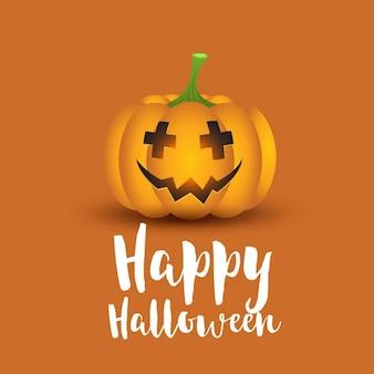 Halloween hintergrund mit gruseligen kürbis