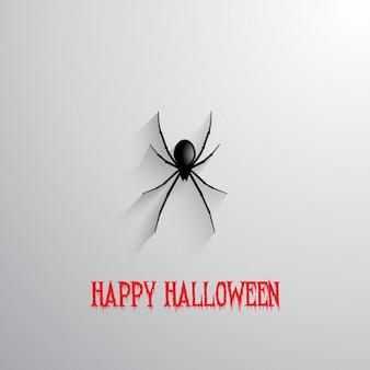 Halloween hintergrund mit hängenden spinne