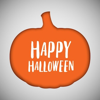 Halloween hintergrund mit kürbis ausgeschnittene form