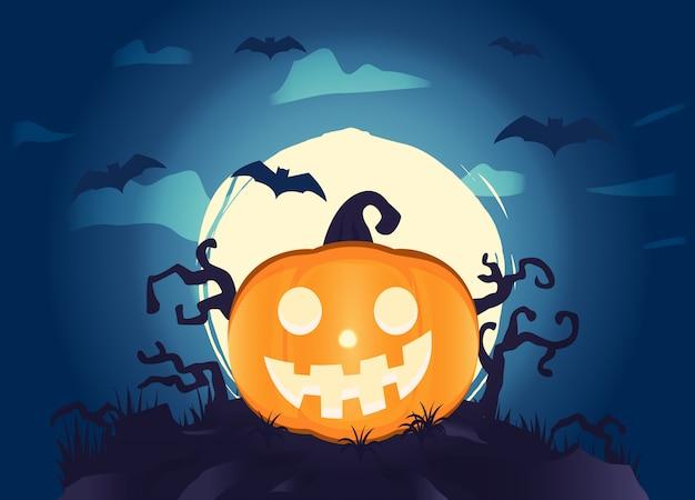 Halloween hintergrund mit kürbissen