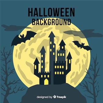 Halloween-hintergrund mit schloss