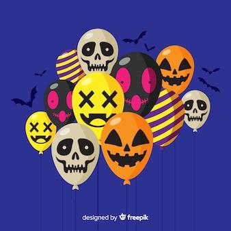 Halloween-hintergrund mit verschiedenen ballonen