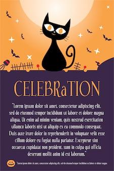 Halloween hintergrund poster