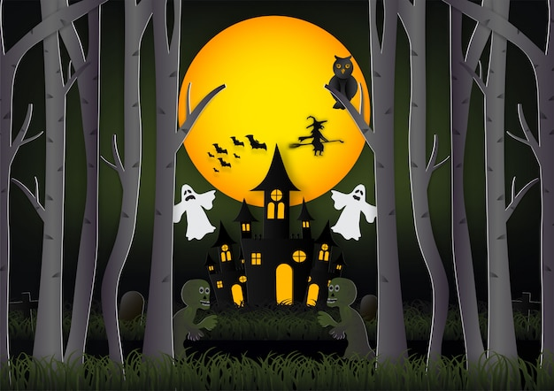 Halloween-hintergrund vektor-illustration