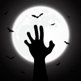 Halloween-hintergrund verziert mit zombie