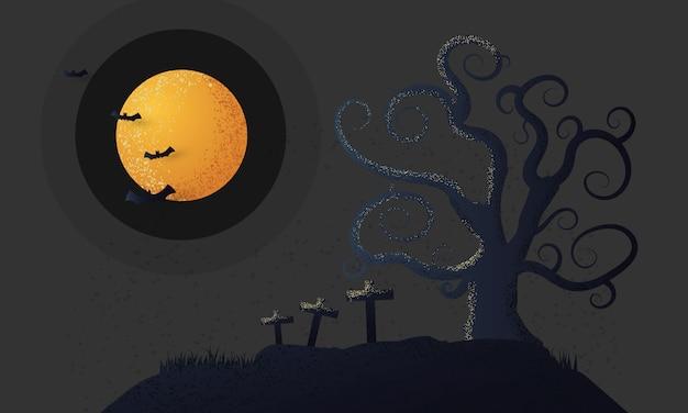 Halloween-hintergrundbaum