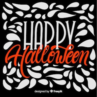 Halloween-hintergrundkonzept mit beschriftung