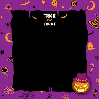 Halloween-hintergrundkürbis-violettfarben