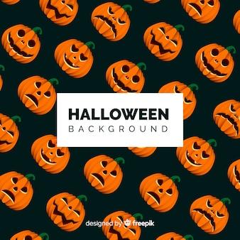 Halloween-hintergrundmuster im flachen desing
